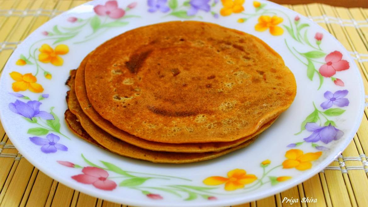 Indian Crepes (Vella Dosai) for Breakfast!